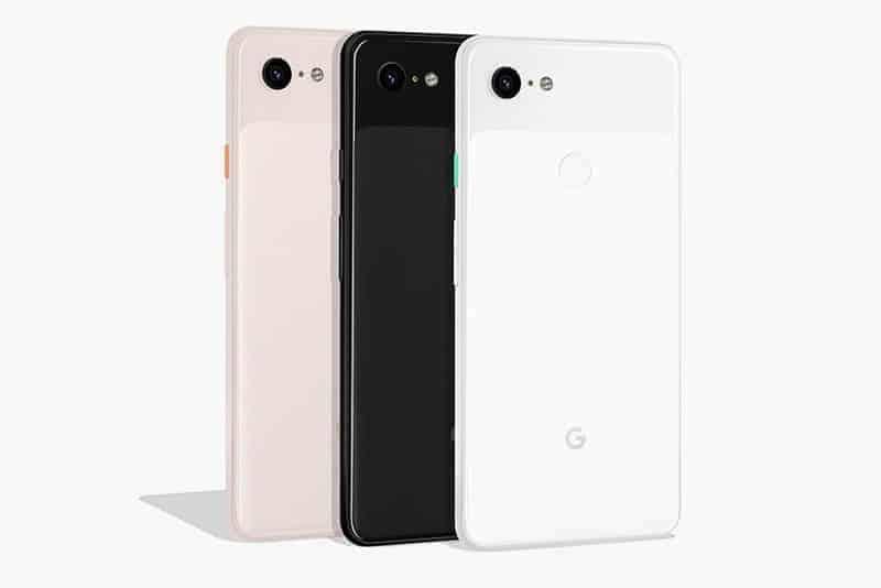 ألوان google pixel 3