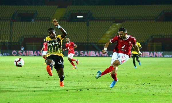 مباراة الإنتاج الحربي ضد الأهلي اليوم الدوري المصري الممتاز 25-7-2021