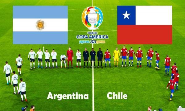 نتيجة مباراة منتخب الأرجنتين وتشيلي اليوم كوبا أمريكا 2021