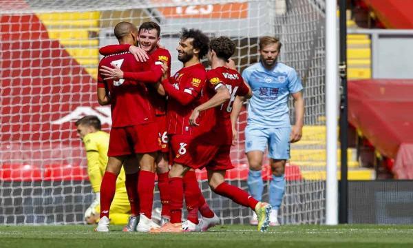 ترتيب فرق الدوري الانجليزي 2021 بعد نتيجة فوز ليفربول على بيرنلي بثلاثية